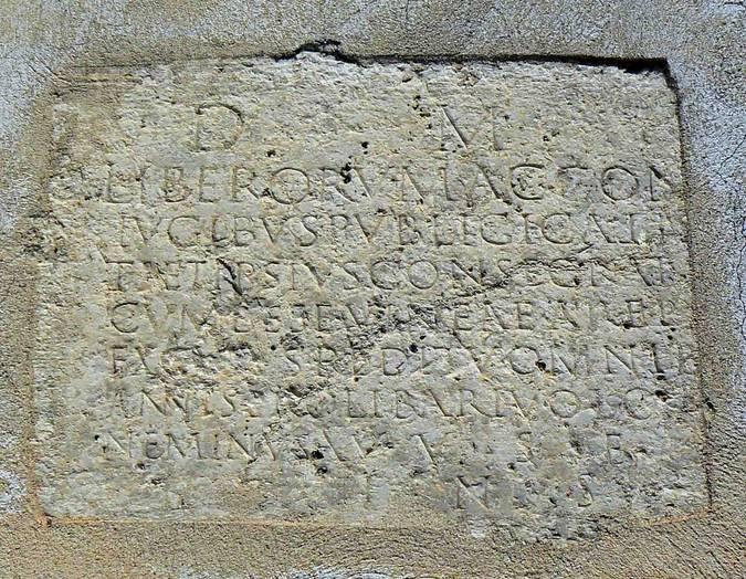 Visuel 1/2 : Epitaphe bachique de Publicius Callistus