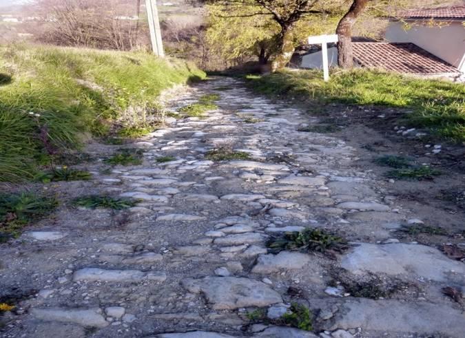 Visuel 1/2 : Voie romaine sur le canton de Saint-Jean-en-Royans
