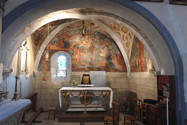 Visuel 1/9 : Peinture murale du 16e siècle (église Saint-Sébastien)