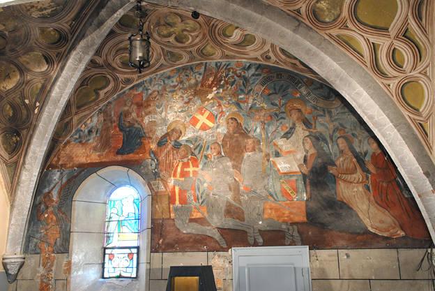 Visuel 2/9 : Peinture murale du 16e siècle (église Saint-Sébastien)
