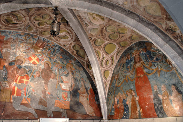Visuel 3/9 : Peinture murale du 16e siècle (église Saint-Sébastien)