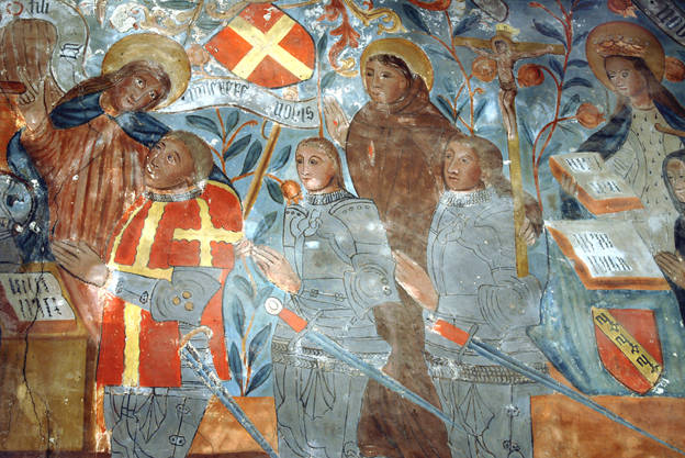 Visuel 4/9 : Peinture murale du 16e siècle (église Saint-Sébastien)