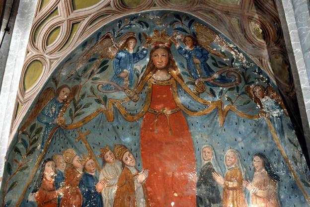 Visuel 6/9 : Peinture murale du 16e siècle (église Saint-Sébastien)