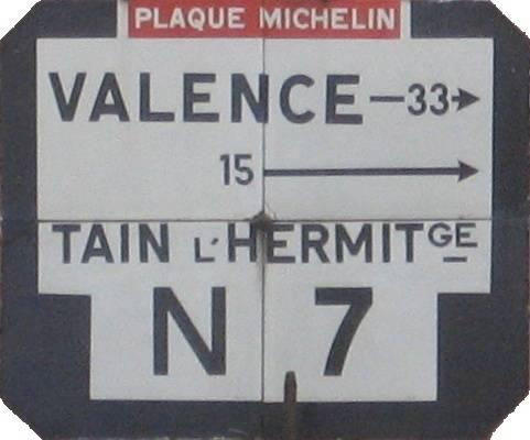 Visuel 1/2 : Plaque Michelin