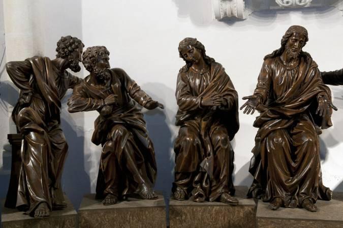 Visuel 2/3 : Groupe sculpté inspiré de la Cène de Léonard de Vinci