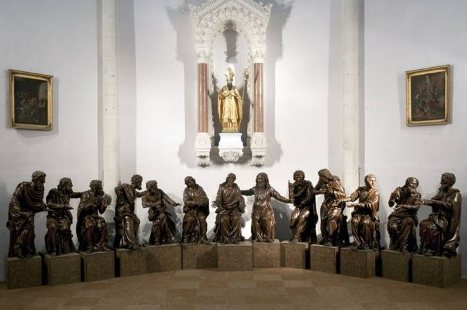 Visuel 3/3 : Groupe sculpté inspiré de la Cène de Léonard de Vinci