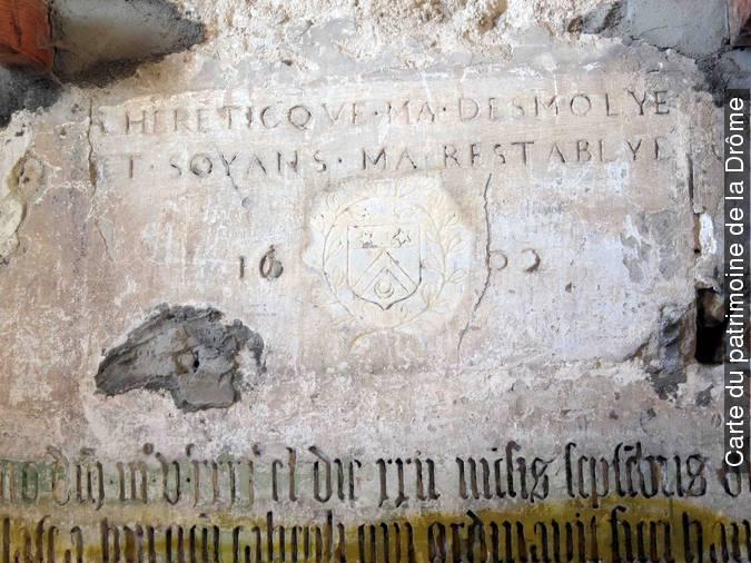 Visuel 1/1 : Inscription dans le clocher Saint-Andéol