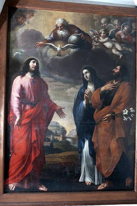 Visuel 1/3 : Les deux Familles du Christ, tableau de Guillaume Perrier (1648)