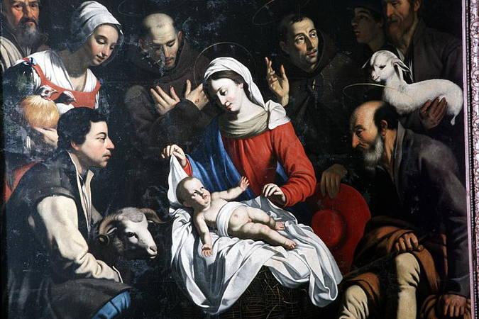 Visuel 1/4 : L'adoration des bergers, tableau attribué à Guy François