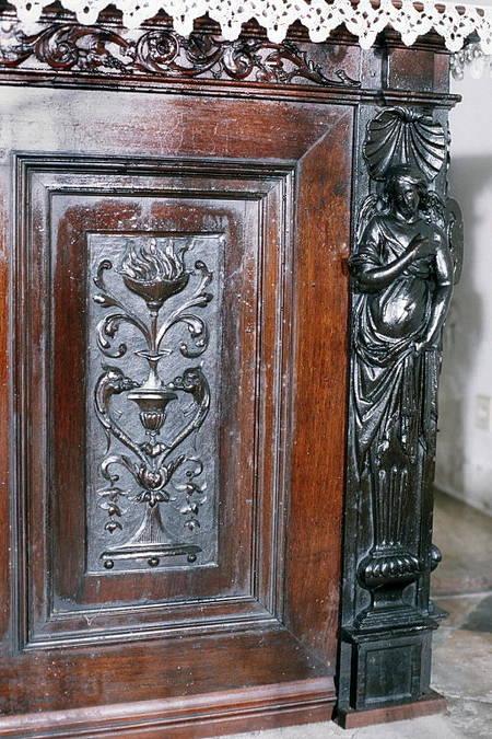 Visuel 6/7 : Ancien tabernacle du maître autel du couvent des Récollets de Nyons (église Saint-Vincent)