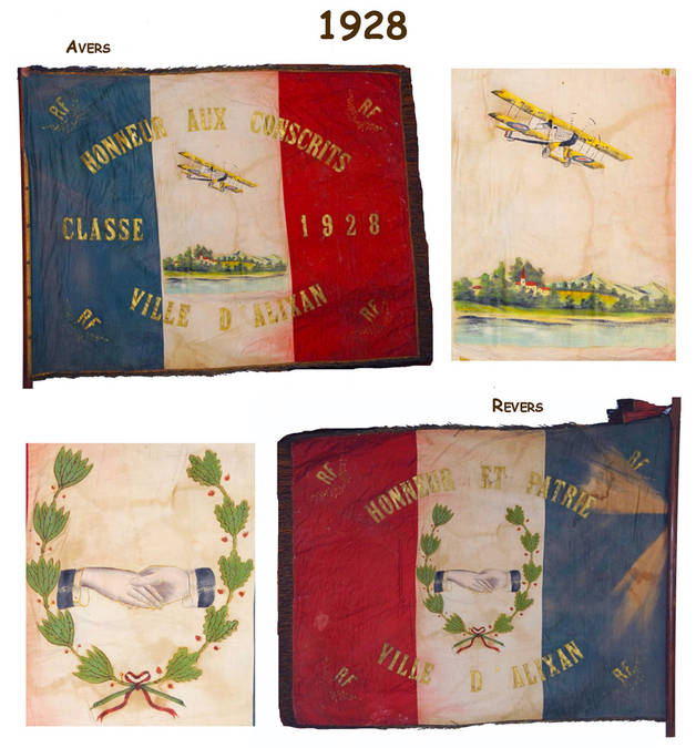 Visuel 7/12 : Collection de drapeaux des classes de conscrits