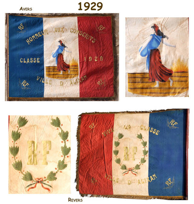 Visuel 9/12 : Collection de drapeaux des classes de conscrits