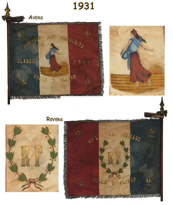 Visuel 11/12 : Collection de drapeaux des classes de conscrits