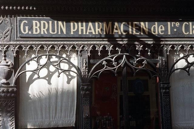 Visuel 3/7 : Pharmacie, devanture, mobilier et décor