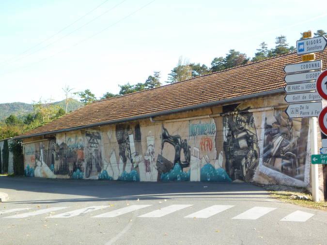 Visuel 1/2 : Fresque sur ancienne usine