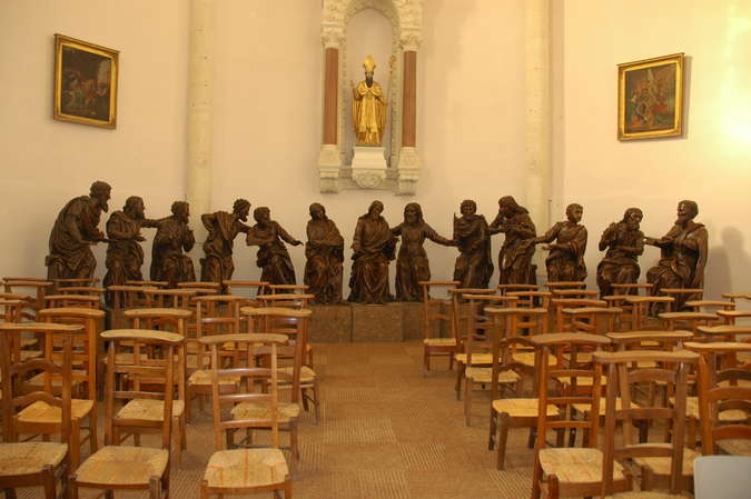 Visuel 5/6 : Groupe sculpté inspiré de la Cène de Léonard de Vinci