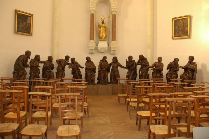 Visuel 1/3 : Groupe sculpté inspiré de la Cène de Léonard de Vinci