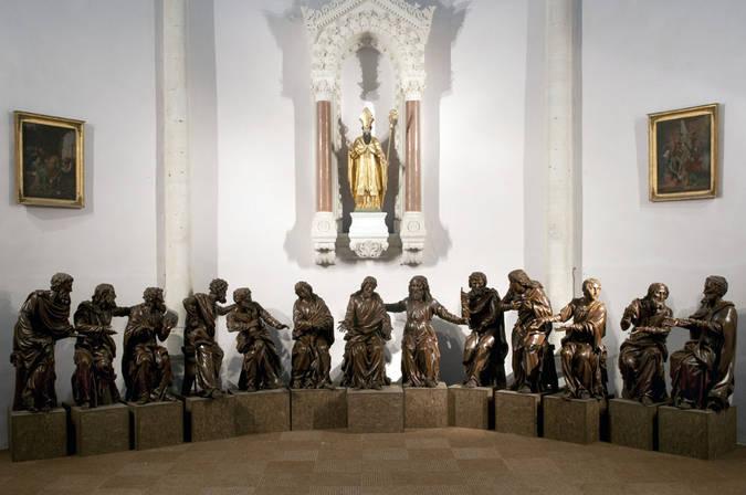 Visuel 1/4 : Groupe sculpté inspiré de la Cène de Léonard de Vinci