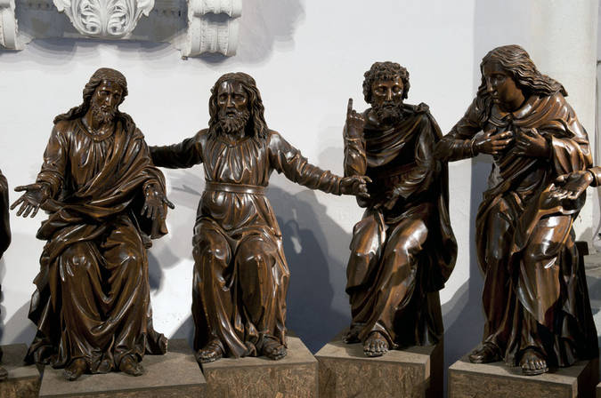 Visuel 2/4 : Groupe sculpté inspiré de la Cène de Léonard de Vinci