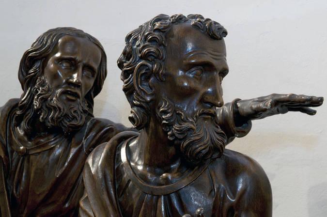Visuel 3/4 : Groupe sculpté inspiré de la Cène de Léonard de Vinci