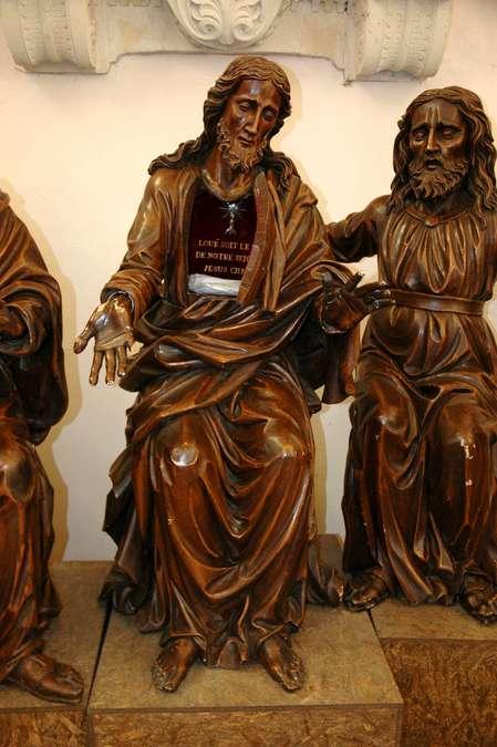 Visuel 6/6 : Groupe sculpté inspiré de la Cène de Léonard de Vinci