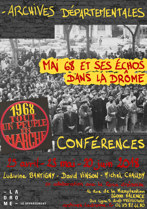 Visuel 1/1 : Conférences : Mai 68 et ses échos dans la Drôme