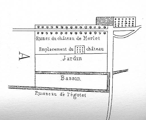 Visuel 1/2 : Le château Merley (ou Merlet) vestiges.