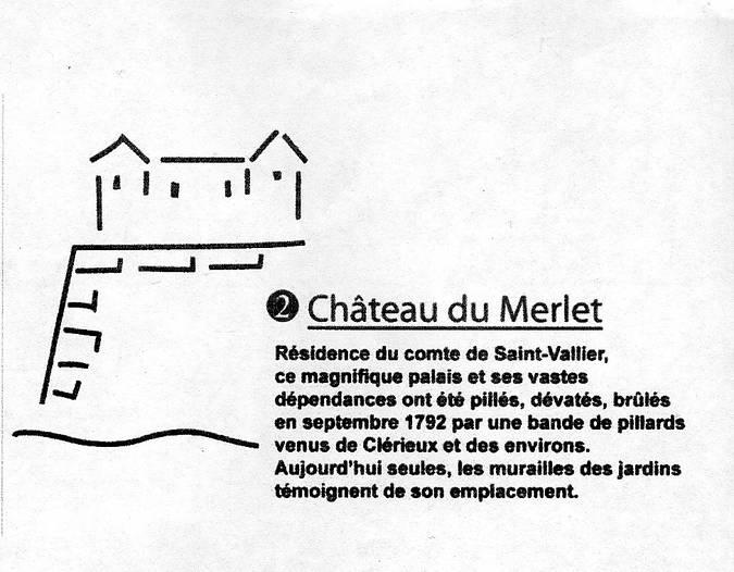 Visuel 2/2 : Le château Merley (ou Merlet) vestiges.