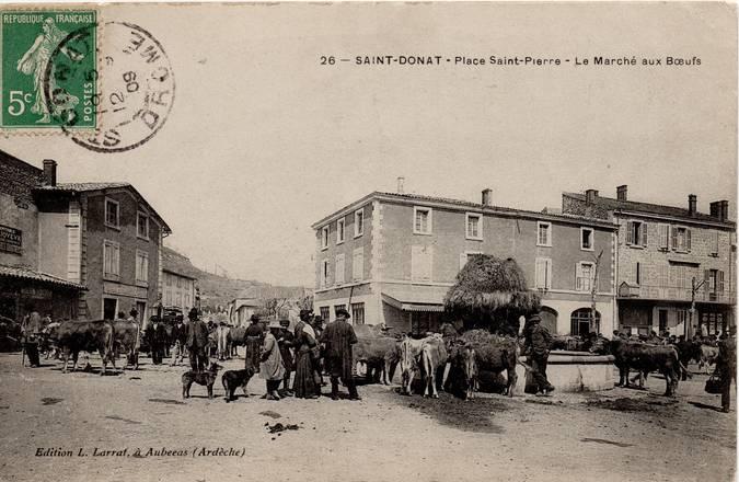 Visuel 1/2 : Place Saint-Pierre (actuelle place Jean-Jaurès)