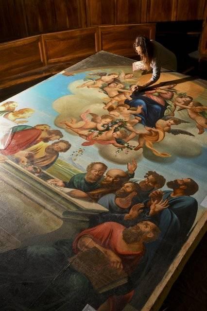 Visuel 2/3 : Restauratrices de peintures, cadres, sculptures et peintures murales (Atelier Jouve-Malfatto)