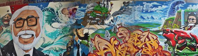 Visuel 1/3 : street art pont des lones