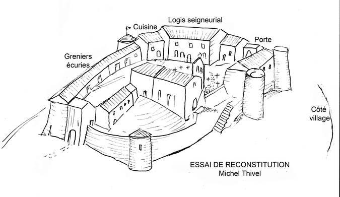 Visuel 1/1 : Place du Fort et château seigneurial