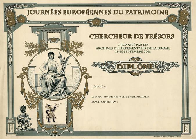 Visuel 1/1 : Chasse au trésor aux Archives départementales (JEP)