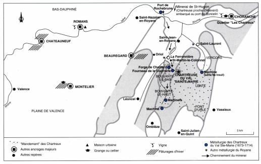 Visuel 2/2 : L'implantation des Chartreux en plaine : Montélier