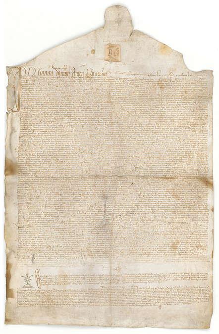 Visuel 1/1 : Exposition de reproductions  de chartes du XIIIe au XVe siècle de Taulignan restaurées