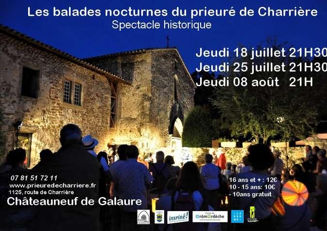 Visuel 1/1 : Les balades nocturnes du Prieuré : spectacle historique