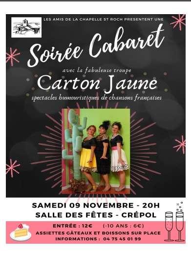Visuel 1/1 : soirée cabaret avec Carton Jaune