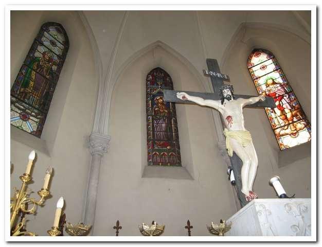 Visuel 1/2 : Vitrail de saint Roch (église Saint-Martin)