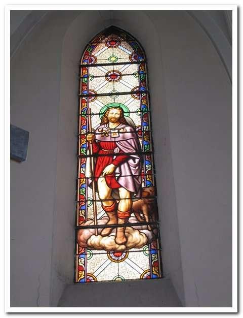 Visuel 2/2 : Vitrail de saint Roch (église Saint-Martin)