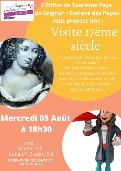 Visuel 1/1 : Visite costumée : Grignan au temps de la Marquise