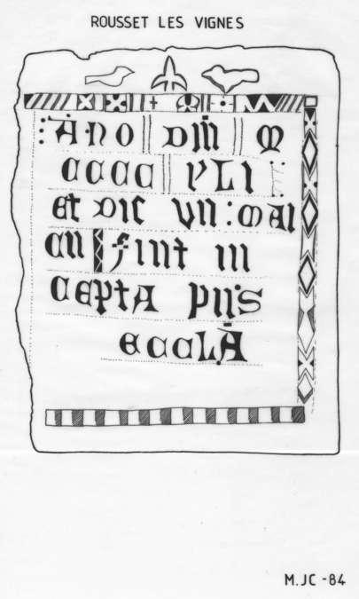 Visuel 1/1 : Pierre de dédicace de l'Eglise St Mayeul