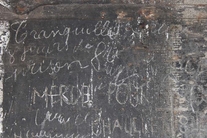 Visuel 3/7 : Inscriptions et graffitis (chapelle des Cordeliers)