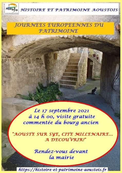 Visuel 1/1 : Visite guidée du village d'Aouste sur Sye (JEP 2021)