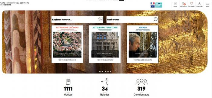 Visuel : La Carte collaborative du patrimoine change de look
