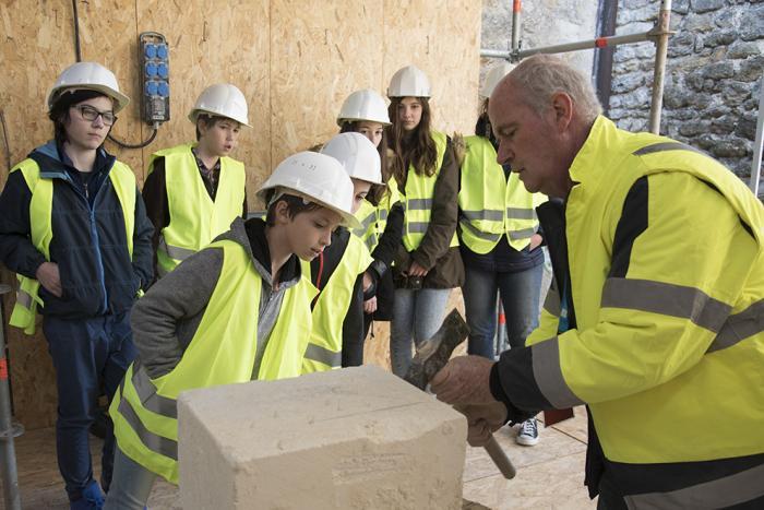 Visuel : Restauration de la cour du puits du château de Grignan : un chantier d'exception