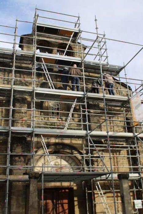 Visuel : Le prieuré Sainte-Agnès en chantier (La Motte-de-Galaure)